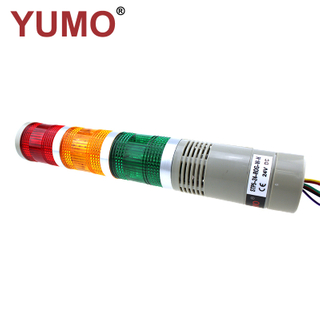 YUMO STP5-24-ROG 50mm Buzzer 24VDC 3layer LED Signal Tower Flashing Warning Light