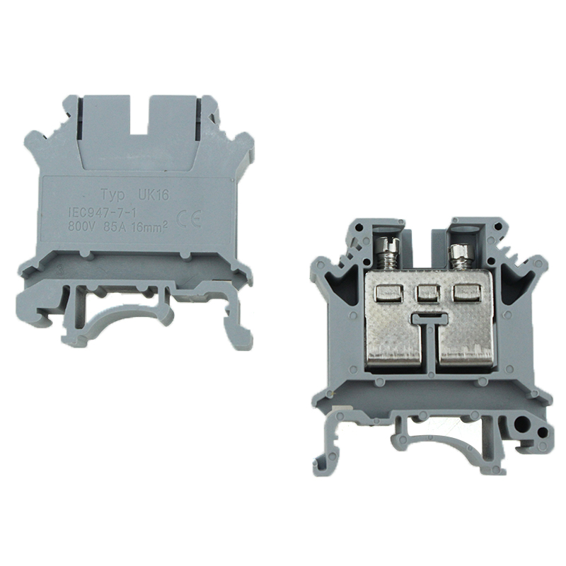 UK 16 Screw Connection Electric Terminal Block din rail
