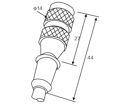 RK02-1-3/RK02-1-4/RK02-2-2 M12 straight sensor connector