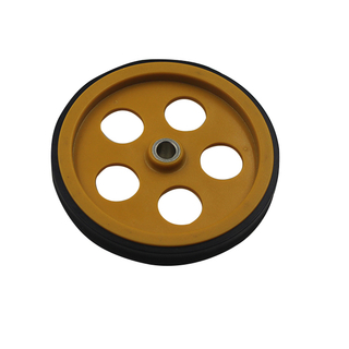 perimeter 300mm (shaft diament 8mm) A set of two wheels color yellow encoder wheel