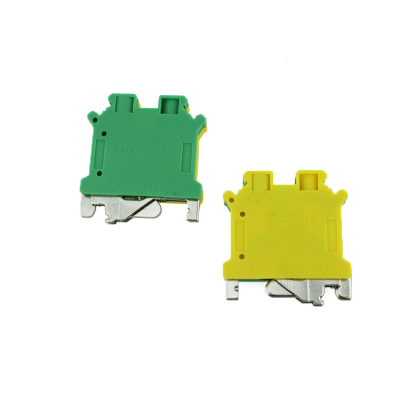 USLKG10N Screw 10mmq Din-rail Earth Clamp Terminal Block