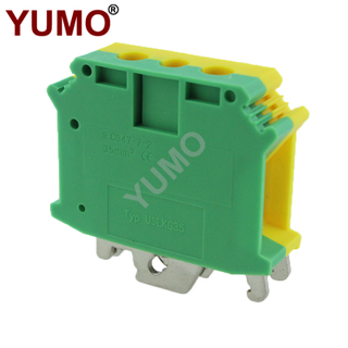 USLKG35 Grounding UK Type Phoenix Din Rail Terminal Blocks 35mm2 Terminal Block