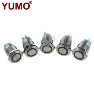 19mm Waterproof Stainless Steel Metal Push Button Switch