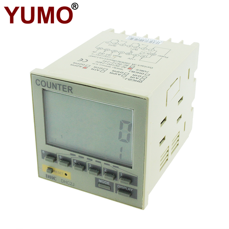 DHC2J-A2PR Small Economical Industrial Electronic 5 Digits Totalizing Counter Meter
