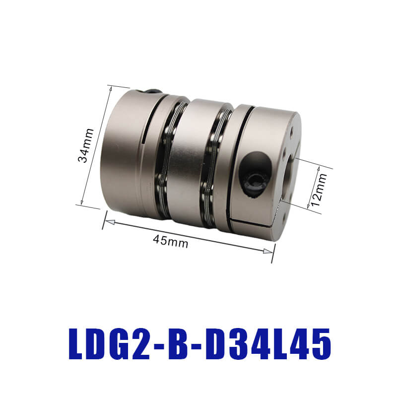 LDG High Rigidity Diaphragm Stepping Motor Coupling