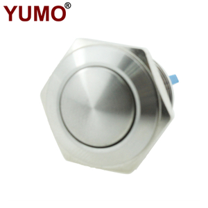 JS16B-10/S Stainless Steel Half Ball Type Metal Push Button with 1NO Screw Terminal