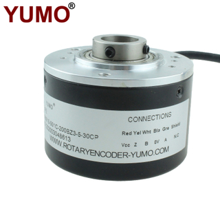 IHA6015 ID15mm Hollow Shaft Encoder Incremental Rotary Encoder Hollow with 2M Cable